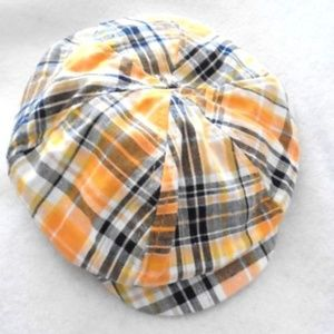 Little Wishes Plaid Beret Hat Boys 6-18 Mo.